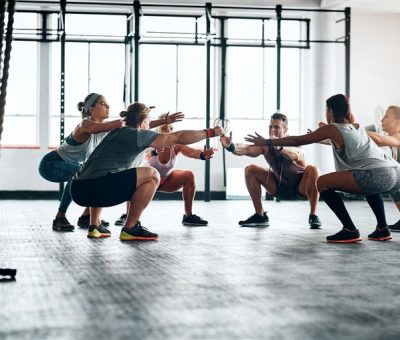 group workout at the gym